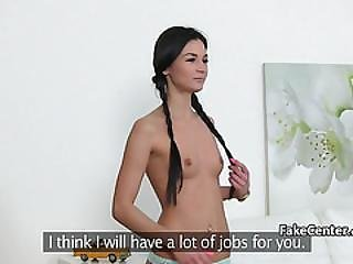 Sexy Lesbian Agent Fucks On Casting