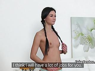 Sexy Lesbian Agent Fucks On Casting