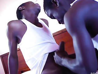 Dark Africans Rony And Jay Bareback