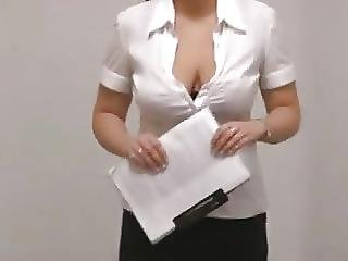 See Through Blouse At Work