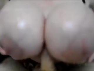 amatør, stort bryst, kneppe, bryst fuckning