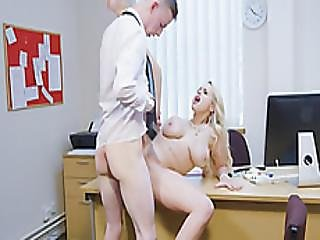 A Busty Boss Lady Angel Wicky Orders Her Employee To Fuck Her Hungry Vagina