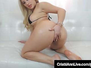 Latina Asian Teen Cristi Ann Oils Her Big Ass Tits Feet & Pussy!