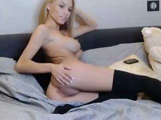 Blonde, Université, Robe, Masturbation, école, Sexy, Solo, Ados, Webcam