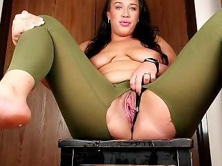 Tall Amazon With Massive Pussy Wetting Her Panties