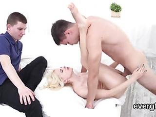 Poor Boyfriend Lets Horny Mate To Pound His Exgf For Cash