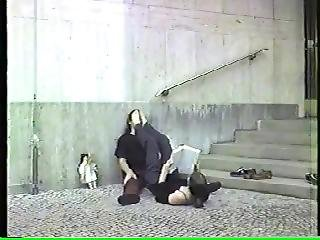 Very Old Public Feet In Face (low Quality)