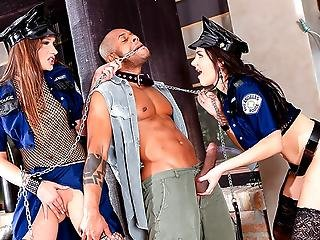 Two Kinky Cops Getting Ass Fucked By Fugitive Kid Jamaica