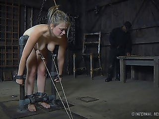 Large Bumpers Cowgirl Nude Enchanting When Tortured In S&m Discharge