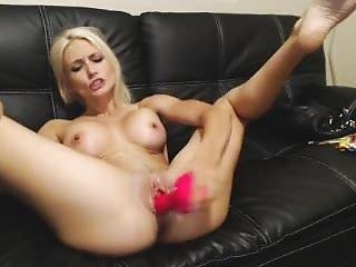 Haley Ryder - Pink Dildo Masturbation