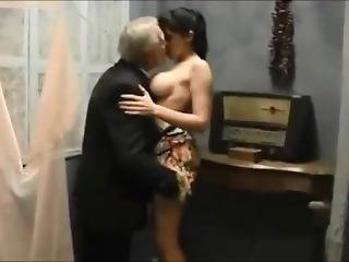 Beautiful Babe Teen Making Love With Two Old Men
