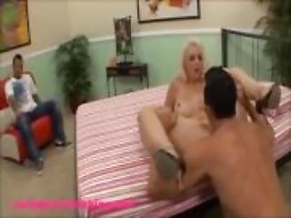 big plasic titty mild wife gets banged by monster white cock infront of hus