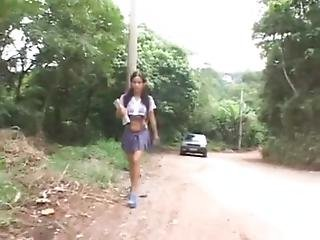 Schoolgirl Violated Horribly By 2 Cocks