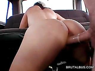 Dick Humping Blonde Gets Jizz Sprayed In The Bus