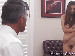 Mormon Teen Rubs Herself