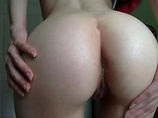 Oiling, Shaking And Spreading Fat Ass