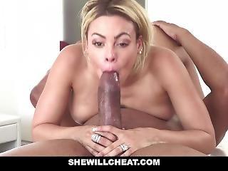 Shewillcheat - Blonde Latina Cuban Wife Loves Fat Black Cock