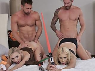 Chanel And Chloe Allow For The Jedi And Sith To Fuck Them Silly