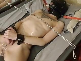 My Chained Pussy On The Cot. Ice In My Pussy
