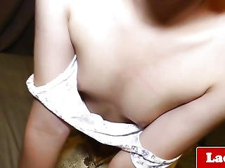 Cute Non-professional Tranny Solo Toying Her Good Booty