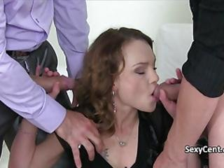 Milf Faced With Two Cocks On Casting