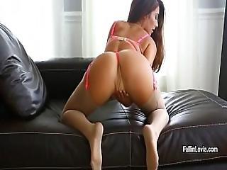 Hot Babe Eva Lovia In Sexy Lingerie Masturbates Her Sweet Pussy
