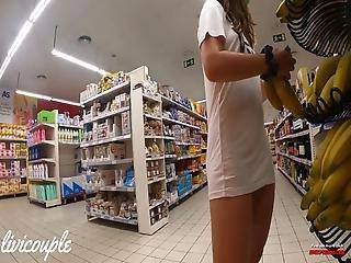 Upskirt In Store, No Panties