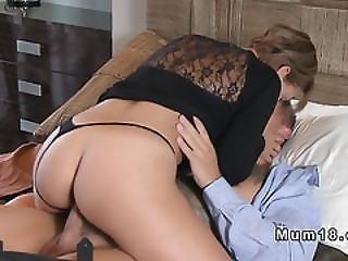 Blonde Mom In Thong Bangs Young Dick