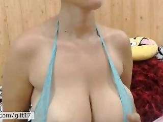 Mature Milf Dancing & Showing Her Huge Boobs. Hot