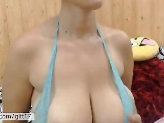 Mature Milf Dancing & Showing Her Huge Boobs. Hot