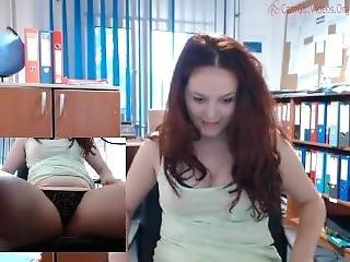 ametérské, v práci, skutečnost, škádlení, webkamera, pracoviště