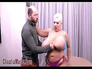 Huge Tit Prostitute Claudia Marie Oiled And Anal