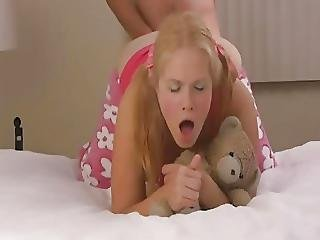 Anal, Blonde, Doggystyle, Hat, Preggo, Teen