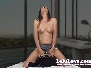 Lelu Love-topless Sybian Riding Two Orgasms