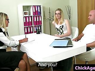 Casting Eurobabe With Glasses Sucking Dick During Audition