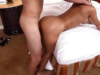 Horny Latin Mom Fucked Hard In Her Tight Pussy Snapchat:ashleybear109