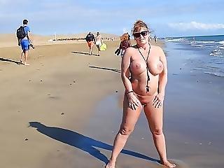 Pláž, Velké Kozy, Koza, Milf, Nudisti, Veřejné