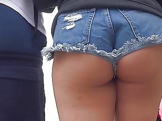 Asian Ass Cheeks Hanging Out Of Shorts