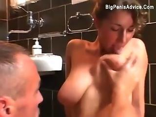 Amateur, Anal, Bathroom, Blonde, Blowjob, Curly, Fucking, Natural, Natural Tits, Sexy