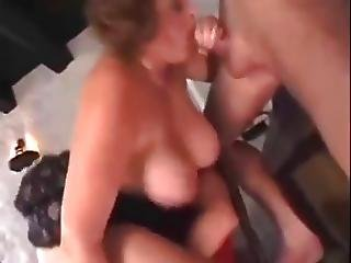 Bbw, Big Boob, Blowjob, Boob, Cumshot, Threesome, Waitress