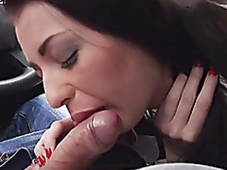 Teen Leyla Peachbloom fucked in the car