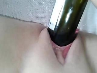 Red Wine Bottle Pussy Fuck