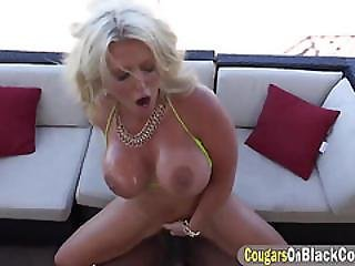 Country Lady Flashing Busty Tits And Curvy Body In Bikini