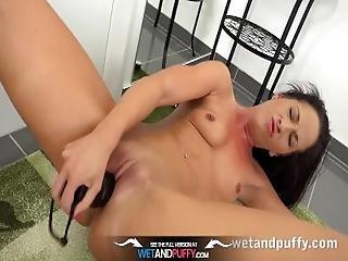 Sex Toys   Black Dildo Play For Gorgeous Czech Babe Vanessa Twain