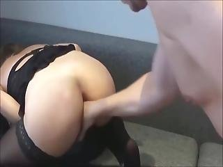Fisting And Fingering A Tied Up Slut's Anus Until She Squirts