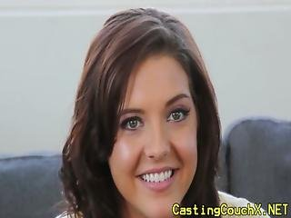 Casting Couch X Hottie Drilled With Cock