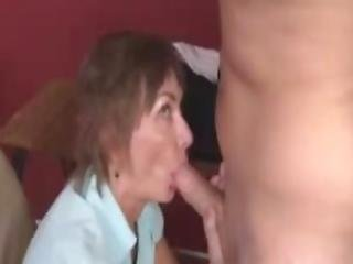 Angry Milf Slobbers And Sucks Young Cock