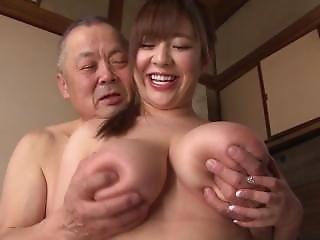 asiat, stort bryst, japansk, medhjælper