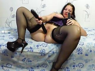 Two Big Dildo In Pussy Mature Aunt