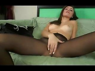 Sexy Teen Black Pantyhose